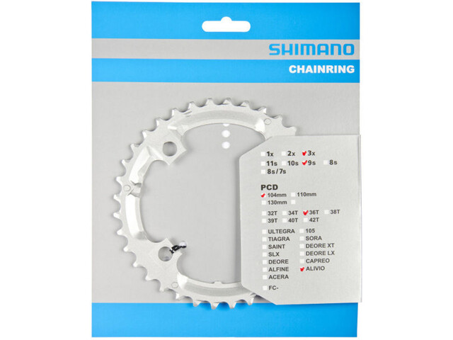 Shimano Alivio FC-M431 Klinge 9-trins sølv (2019) | chainrings_component